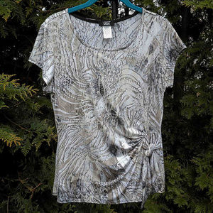 Beautiful Shimmery Silver & Gold Blouse
